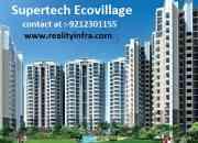Luxuty flats in supertech ecovillage 1 noida