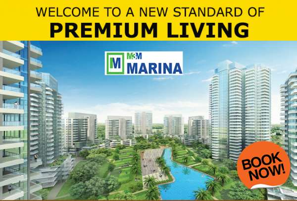 M3m marina 2 bhk ultra luxury apartments 1260 sq.ft sector 68