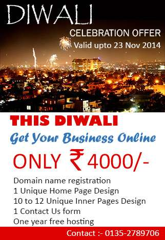 Diwali celebration offer valid upto 23 nov 2014 this diwali get your business online o