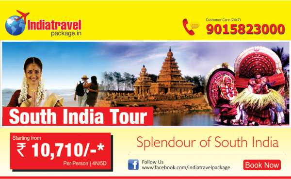 Book south india tour of 04n/05d @ rs: 10,710- only