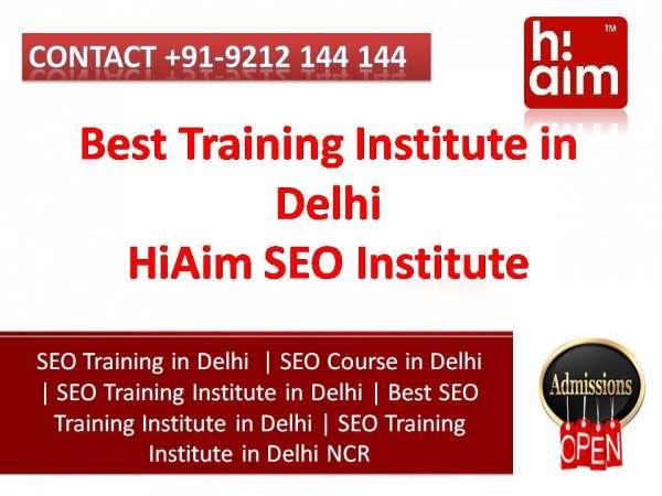 Seo training institute in delhi - seo course delhi