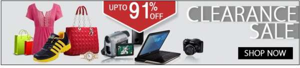 In clearance sale get discount of upto 91% on most of the products