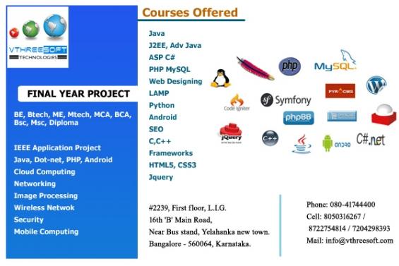 Final year project and internship in yelahanka | bangalore