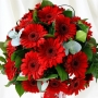 Red gerbera flower bouquet : winni