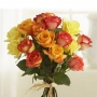 Red and yellow rose bunch : winni