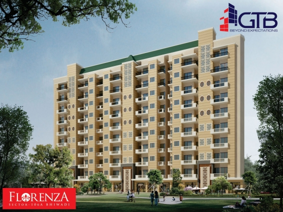 Elevation picture of new residential project gtb florenza, bhiwadi