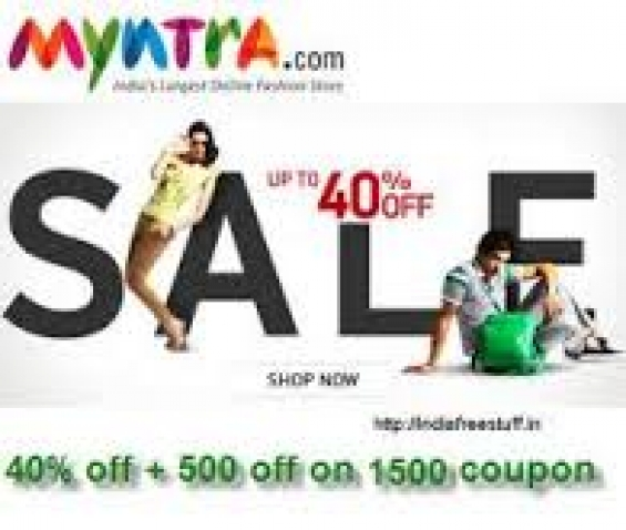Myntra discount coupons and deals, couponsbag.in