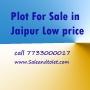 Plots For Sale in jaipur low price saleandtolet