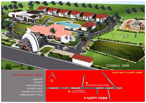 Good investment project with worldclassamenities near pollachi,with emi scheme