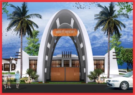 Meritt resort arch
