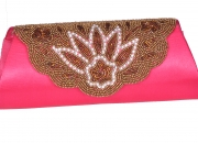 Jugnu beaded clutch purse