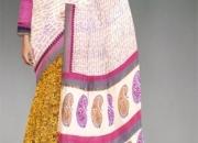 online shopping Party half white pure soft chanderi sico saree from unnati silks