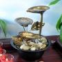 Buy Natural Metal Leaves LED Tabletop Fountain