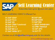 Self Learning SAP Center – Learn your SAP course at your convenience.
