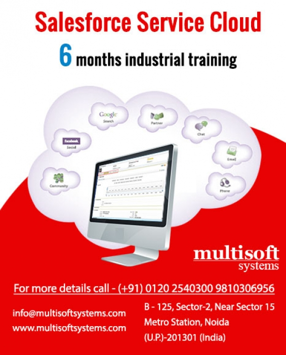 Salesforce service cloud training from multisoft systems