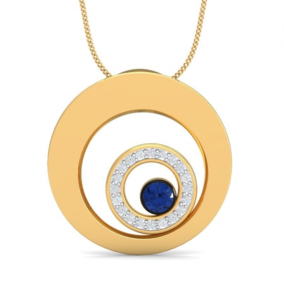 Pictures of New golden zoom pendant by aurobliss online jewelry shop 5