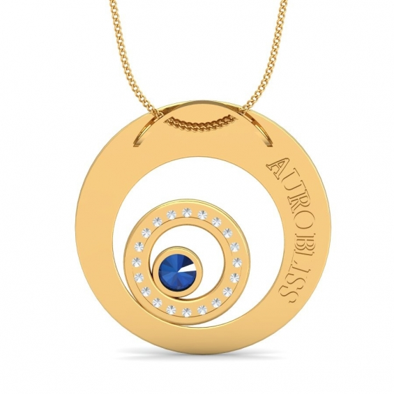 Pictures of New golden zoom pendant by aurobliss online jewelry shop 4