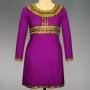 online shopping for Pracheenkala purple art crepe silk kurti from unnatisilks