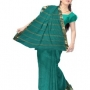online shopping of Casual green pure handloom Assam cotton tant sari fron unnati silks