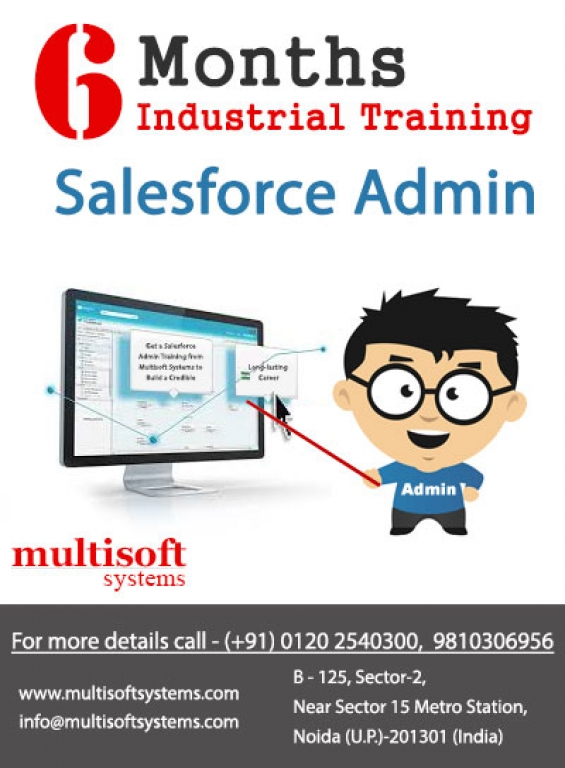 Get a salesforce admin training from multisoft systems to build a credible