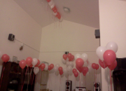 Helium balloons and party supplies