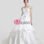 Ivory Satin Princess Bridal Dress Floor-length