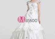 Ivory Satin Princess Bridal Dress Floor-length
