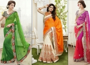 Latest and designer sarees at lower price with Amazon coupons