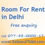 Room rent  in delhi tolet services