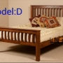 New wooden double cot in factory price..free door delivery