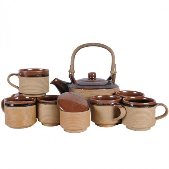 Assam bamboo tea set