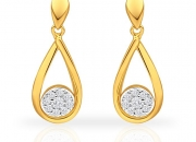 Certified diamond drop earrings made in 18 carat hallmarked gold