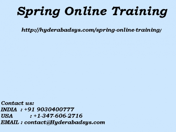 Spring online training | online spring training in usa, uk, canada, malaysia, australia, i