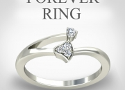 Certified white gold diamond ring at only rs.8383 /-