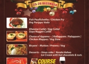 Enjoy Christmas Feast with 5 Course Meal & Wine @Just Kerala- Hotel Samraj