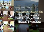 Join us for intensive 200 Hrs.  Yoga Teachers Training programme