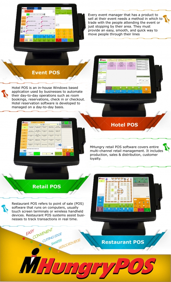 Mhungry pos is a point of sale for hotel, restaurants, bakeries, coffee shops, ice cream s