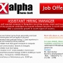 Assistant Hiring Manager