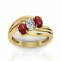 Colorful Diamond Rings Studded With Precious Stones at Discount Price