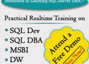 PROJECT ORIENTED REALTIME TRAINING ON SQL Server 2012 DBA