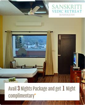 Avail 3 nights package and get 1 night complementary sanskriti vedic retreat, rishikesh