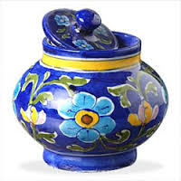 Latest design of blue pottery handicrafts