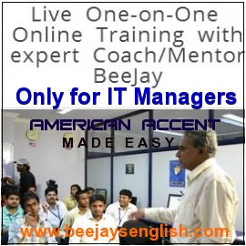 Beejay's online american accent training for corporates