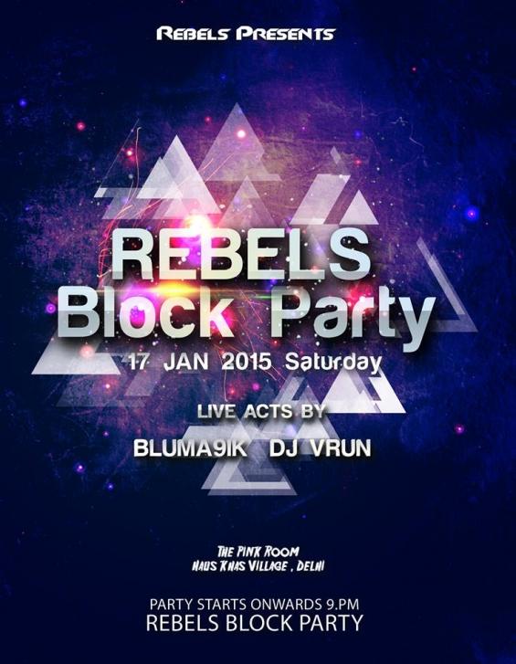 Kyazoonga.com: buy tickets for rebels block party, delhi