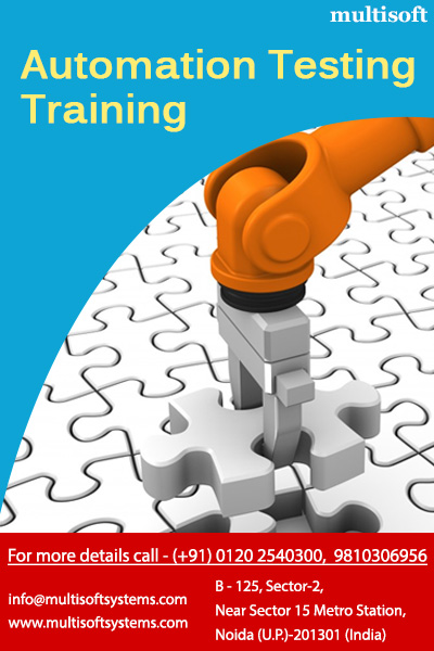 Manual testing, automation testing training