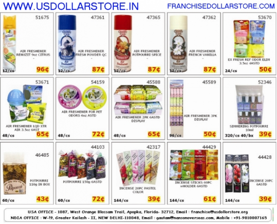 Franchise cleaning products