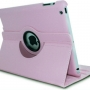 360 Degree Rotating Leather Case With Stand for Ipad Air Light Pink