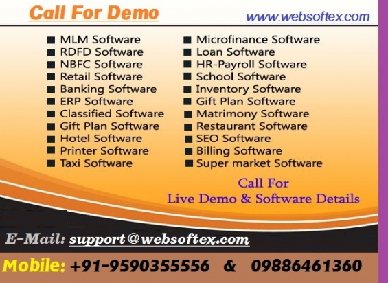 Chit fund software, mlm software, microfinance software, rd fd software