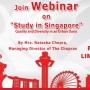 The Chopras Arrange Webinar on Study in Singapore