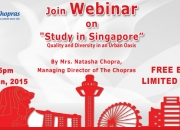 The Chopras Arrange Webinar on Study in Singapore